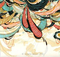 Hover - Pen & Ink on paper by Yellena James, via Flickr