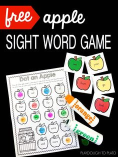 Playdough To Plato Apple Sight Word Game &; Playdough To Plato Mrs.s Sight and Sound Reading sightsoundread Best of Kindergarten Apple Sight […] and first grade games Teaching Sight Words, Sight Word Practice, Sight Word Games, Sight Word Activities, Teaching First Grade, First Grade Math, Grade 3, The Words, Centers First Grade