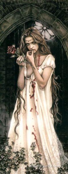 Victoria Frances Vampire ~ Have Vampire Love, Vampire Art, Gothic Vampire, Female Vampire, Vampire Girls, Gothic Fantasy Art, Gothic Fairy, Poster Art, Luis Royo