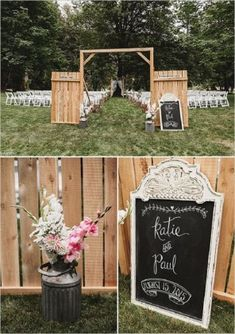 country rustic wood pallets wedding ceremony decor
