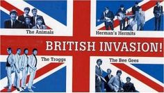 The British Invasion. There were so many British rock groups in addition to The Beatles! The Rolling Stones, The Troggs, Chad and Jeremy, The Bee Gees, Gerry and the Pacemakers, The Animals, Peter and Gordon, Herman's Hermits, The Dave Clark Five,  Freddie and the Dreamers, Petula Clark, Wayne Fontana and the Mindbenders, Donovan, Manfred Mann, and more were all part of this mid-'60s phenomenon.