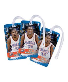 Take a look at this Oklahoma City Thunder Kevin Durant Luggage Tag - Set of Three by National Design on #zulily today!