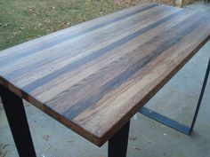 Steel Bar Table High Kitchen Table Pub by BlueRidgeWoodworking