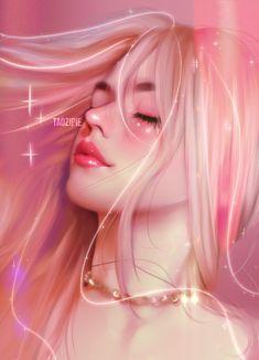 Digital Art Girl, Digital Portrait, Portrait Art, Digital Art Anime, Kawaii Anime Girl, Anime Art Girl, Girl Cartoon, Cartoon Art, Beautiful Girl Drawing