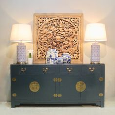10 great home décor and furniture stores to check out Decor, Chinoiserie Decorating, Blue Painted Furniture, Furniture Decor, Home Room Design, Oriental Furniture, Sideboard Styles, Blue Bedroom Design, Oriental Furniture Asian Style