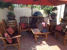 Wine barrel patio furniture