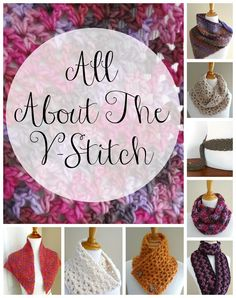 Fiber Flux: All about the v-stitch with video tutorial plus 8 free crochet patterns!