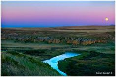 Moonrise over the Milk river valley Writing-on-Stone Alberta by Robert Berdan © Grew up 20 miles from here growing up very mystical. I loved it Parks Canada, Future Travel, Roman Empire, Famous Artists, Old World, Trip Planning, Places Ive Been, Mystic, Old Things