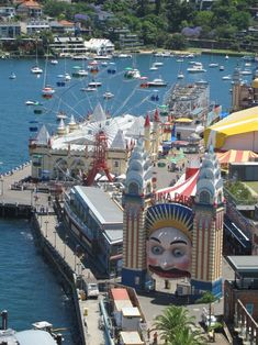 Luna Park. Sydney, Australia, is located at Milsons Point, on the northern shore of Sydney Harbour. The park was constructed at the foot of the Sydney Harbour Bridge during 1935