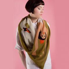 Swan Lake Wool Scarf  #karenmabon #scarf #gift