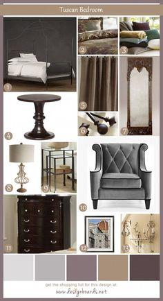 Tuscan Bedroom 3   Design Boards
