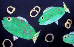 Deep Space Sparkle – Fish Collage Art Lesson