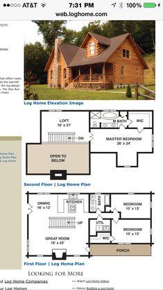 Small Cabin Home Plan with Open Living Floor Plan Open floor