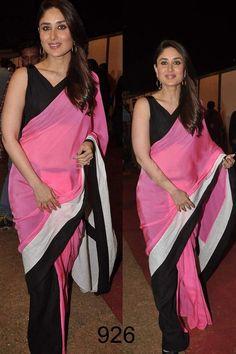 Charismatic Kareena Kapoor Designer Replica Saree