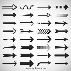 Arrows icons set Vetor Premium