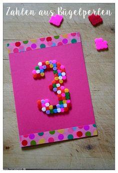 1, 2, 3 … Zahlen für eine Geburtstagskarte | Monas Blog