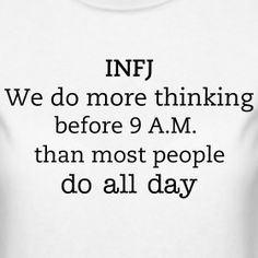 INFJ Personality (Oh, I thought it was because I am a morning person...)