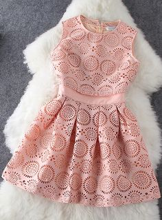 Hollow out pink dress                                                                                                                                                     More