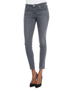 Ankle Skinny Jeans, 5-Year/Skyline by AG Adriano Goldschmied at Neiman Marcus.