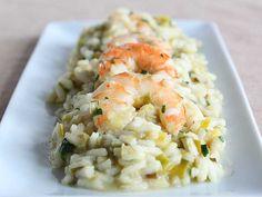 Shrimp and Leek Risotto