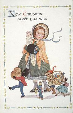 Nina Kennard Brisley - English - (1898-1978) vintage postcard