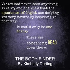 The body finder book trailer assignment