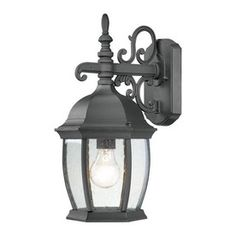 Thomas Lighting Convington 16-In H Black Outdoor Wall Light Sl92287