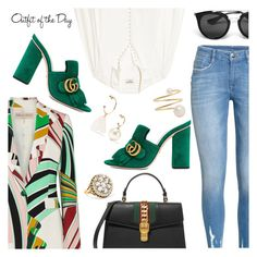 """""""Outfit of the Day"""" by dressedbyrose ❤ liked on Polyvore featuring Emilio Pucci, Frame, Gucci, Simone Rocha, Sophie Bille Brahe, Petit Bateau, Prada, Fred Leighton, ootd and polyvoreeditorial"""