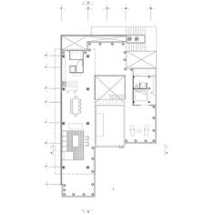 First floor plan of Baaq House by Alfonso Qunones
