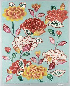 Bingata panel  Date: 20th century Culture: Japan (Ryukyu Islands) Medium: Cotton tabby Dimensions: 18 1/4 x 15 in. (46.4 x 38.1 cm) Classification: Textile