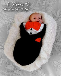 Looking for your next project? You're going to love Crochet Tuxedo Cocoon - Newborn by designer CrochetItBaby. - via @Craftsy