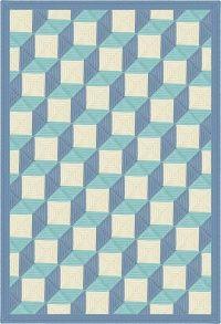 3d illusion afghan block pattern | Tumbling Blocks Quilt Afghan Blanket Crochet Pattern
