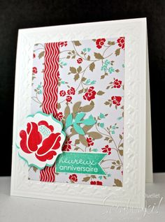 Card with Stampin'Up! new Occasions catalog. Venez visiter mon blog www.scrabouki.com