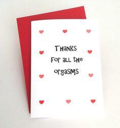 Sexy Böse Liebe Karte vielen Dank für alle von SpellingBeeCards