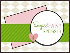 This week's sketch has an angled panel grounded by a horizontal strip.  The simple circle accent provides the perfect space for showcasing a stamped image OR sentiment.   Feel free to make it your ...