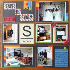 It couldn´t missed in the album - Maty´s school enrollment. Even though I´ve catched just a few mobile photos, the page was created. I´ve u. School Enrollment, Mobile Photos, Happy Mail, Mobiles, Gallery Wall, Pocket, Frame, Picture Frame, Merry Mail