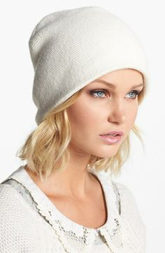 Echo 'Milk Made' Slouchy Beanie available at #Nordstrom