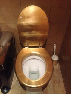 gold toilet seat cover. Gold toilet in the Procope Restaurant  Paris France Leaf Toilet Seat