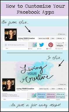 Learn how to customize your Facebook apps with this simple tutorial! www.livingYOURcreative.com