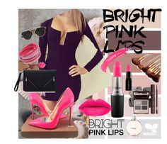 """Bright Pink Lips"" by mila96h ❤ liked on Polyvore featuring beauty, Christian Louboutin, MAC Cosmetics, Chicnova Fashion, Christian Dior, Chanel, Topshop, Smashbox, Pink and lips"
