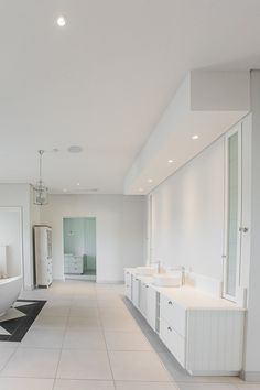 Ceiling bulkhead with down lights at vanity mirrors in master bathroom Home, Roofing, Vanity Mirror, Residential, Timber, Lights, Master Bathroom, Downlights, Bathroom