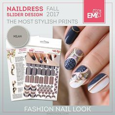Coming soon!  Naildress Slider Design — the most stylish prints of the fall 2017  — At the peak of trend. The most highly-demanded prints by the distinguished designers: snake, knitted, zigzag, abstraction, check, cats – all that you need to create a showy E.Mi-manicure. — Sophisticated E.Mi-manicure in just a few minutes. The Naildress slider saves time and optimizes the nail artist's work. — A true finding for a highly-demanded nail artist and first time using. No special education is r...