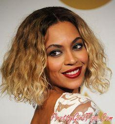 @prettygirltips Beyoncé short ombre curly bob cut