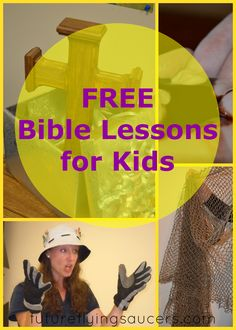FREE Bible Lessons for Kids ~ chronological list from Genesis to Revelation. New Lesson is added each week! ~ futureflyingsaucers.com