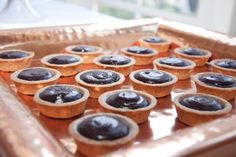 Yummy mini chocolate ganache tarts from Sweet Cheeks Baking Company!