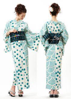 Furifu designed kimono and obi. Japan