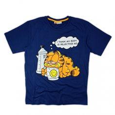 T-shirt męski Garfield  kolor granatowy rozmiary M, L, XL, XXL