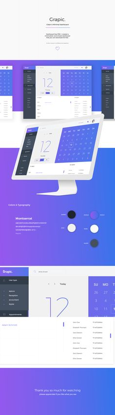 Dashboard free PSD. I created a minimalistic and simple dashboard that you can…