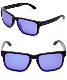OAKLEY HOLBROOK SUNGLASSES--------- Colors Available :Matte Black/Violet Iridium, Blue, Black, Orange,Pink----- Plastic frame----- Plastic lens----- Iridium----- 100% UV protection coating------  Best Sunglasses for your face shape-------- Cool,Vintage and Designer-------- Great Sunglasses wearable for men and women during Summer/Spring 2016--------