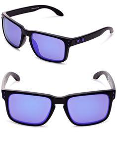 OAKLEY HOLBROOK SUNGLASSES--------- Colors Available :Matte Black/Violet Iridium, Blue, Black, Orange,Pink----- Plastic frame----- Plastic lens----- Iridium----- 100% UV protection coating------  Best Sunglasses for your face shape-------- Cool,Vintage and Designer-------- Great Sunglasses wearable for men and women during Summer/Spring 2016--------